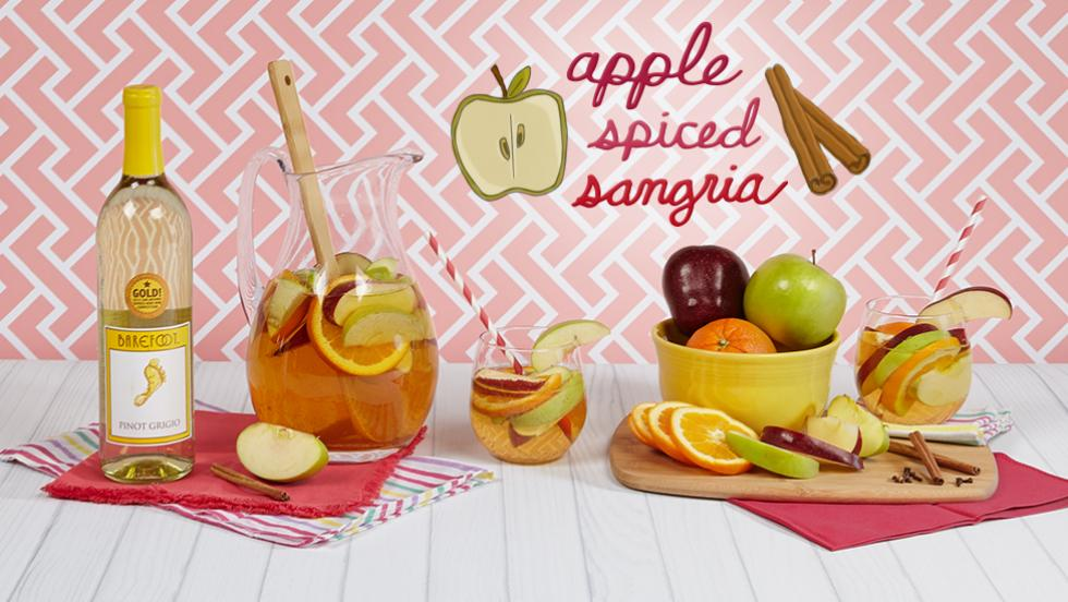 Have A Pitcher Perfect Fall Party with Apple Spiced Sangria
