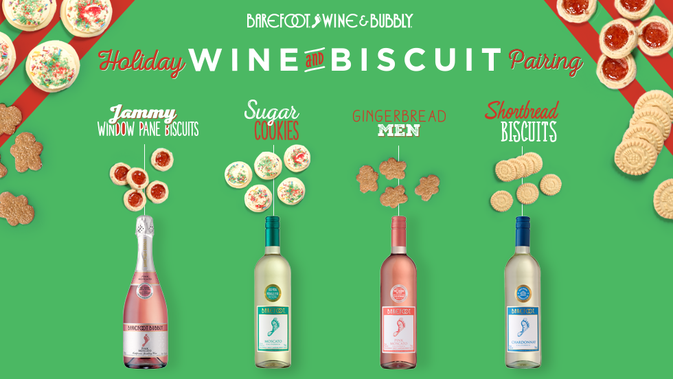 Move over, milk! Wine & biscuits are spot on
