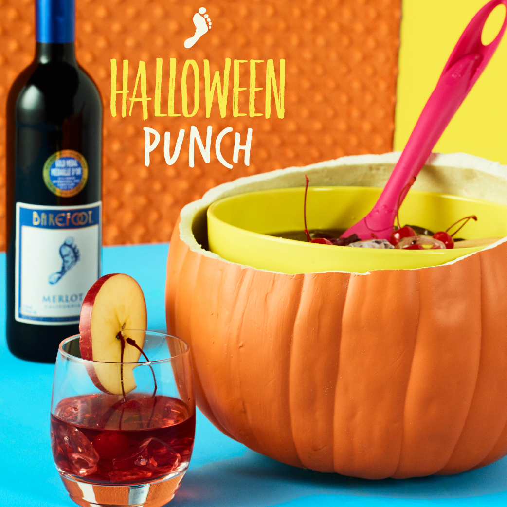Halloween punch bowl merlot cocktail barefoot wine bubbly for Halloween alcoholic punch bowl recipes
